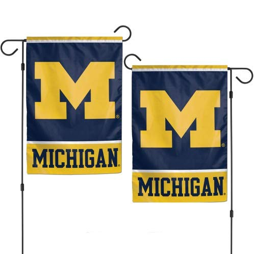 WinCraft University Michigan Wolverines NCAA 2-sided 12'' x 18'' Garden Flag by WinCraft