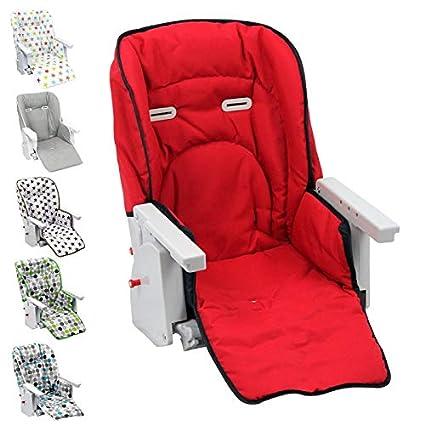 Monsieur Bébé Housse d'assise pour chaise haute enfant gamme Ptit - 6 coloris - Norme NF EN14988 EGK