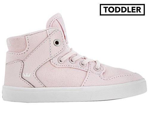 Supra Kids Baby Girl's Vaider (Toddler) Mauve Chalk Canvas/White Shoe (Supra High Tops Kids)