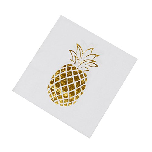 Geeklife Gold Cocktail Paper Napkins,Beverage Napkins Stamped with