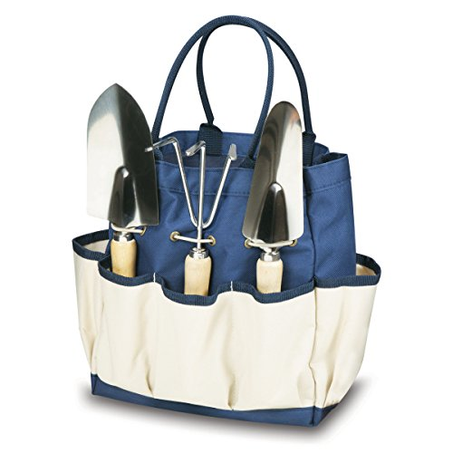 ONIVA - a Picnic Time brand Garden Tote with Tools, Navy/Cream (Canvas Garden Tote)