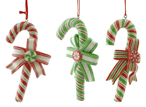 (Gerson Holiday Candy Canes Clay Dough Hanging Ornaments - Set of 3)