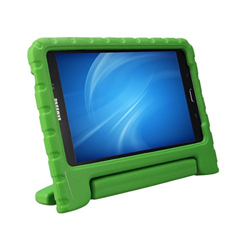 XKTTSUEERCRR Samsung Galaxy Tab 4 8.0 Kids Case, Shockproof Lightweight Super Protective Convertible Handle Stand Cover Case for Samsung Galaxy Tab 4 8.0 Inch Tablet (SM-T330 SM-T331 SM-T335) - Green