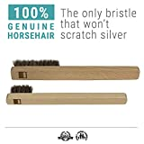 Horsehair Silver Brush Set | 2 Silver Cleaning