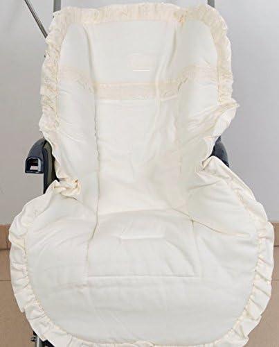 Colchoneta para silla de paseo universal puntilla beig. Funda silla de coche. Mundi Bebé.: Amazon.es: Bebé
