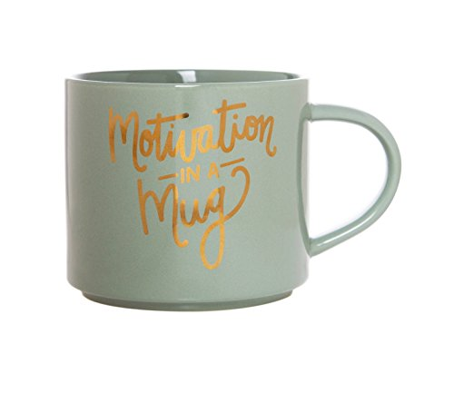 Stackable 15oz Porcelain Mug by Clay Art (Motivation In A Mug) ()