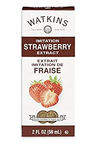 Watkins All Natural Extract, Imitation Strawberry, 2 Ounce (Pack of 6)  (Packaging may vary)