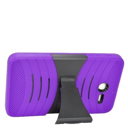 Z-GEN [TM] - For Alcatel OneTouch PIXI 7 Tablet (T-Mobile) - Hybrid Armor Protective Case with Stand + Z-GEN [TM] Stylus Pen - Black/Purple ()