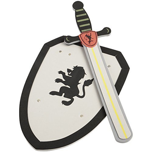 U.S. Toy Lion Theme Knight Safety Foam Sword and Shield Set]()
