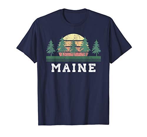 (Maine T-Shirts Retro Vintage Shirt Gift Men Women Kids)