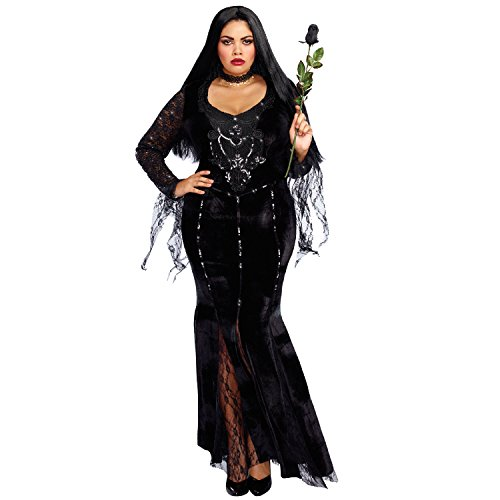 Morticia Addams Costumes For Adults - Dreamgirl Women's Frightfully Beautiful Plus Size,