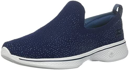 Go Walk 4-Gifted Sneaker, Navy/Gray