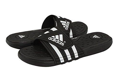 adidas Adissage Sc Black/White Sandals Na 12 by adidas