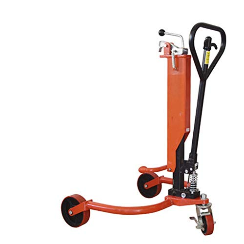 Zhao Xiemao Durable Hand Truck Drum Picker Handler 1100lb Industrial Hydraulic Oil Drum Trucker Lifter Cart for Factories Workshops Warehouses and Dock Operations (Color : Orange, Size : 95X80X30CM) from Zhao Xiemao