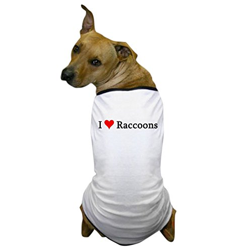 CafePress - I Love Raccoons Dog T-Shirt - Dog T-Shirt, Pet Clothing, Funny Dog (Dog Raccoon Costume)