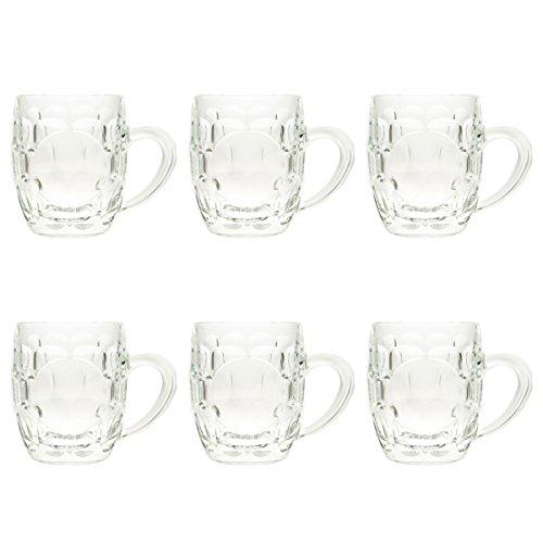6 J.G. Durand Britannia 10oz Glass Mug Restaurant Bar Cafe English Drinkware