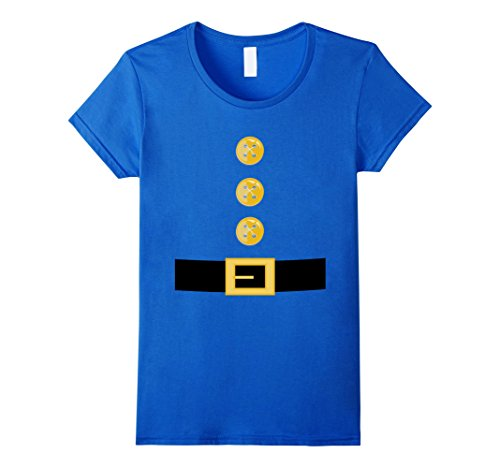 Garden Gnomes Halloween Costumes (Womens Funny Elf or Garden Gnome Halloween Costume T-Shirt Large Royal Blue)