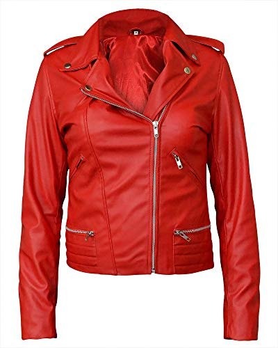 para Medium leather Chaqueta 38 Cow Hombre jackets Rosso Rojo Pn7qnZtWw