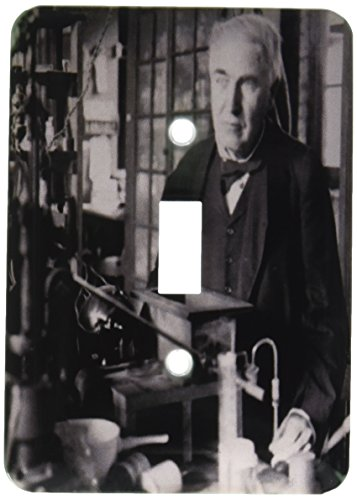 3dRose lsp_27560_1 Thomas Edison in His Lab Toggle Switch Multi-Color