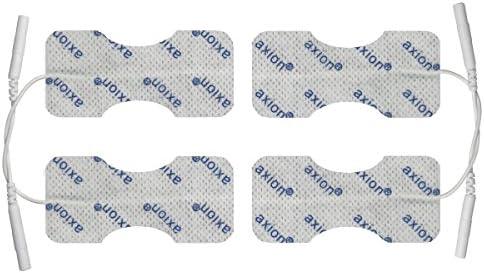 4 Elektroden-Pads 6x3 cm für Finger & Handgelenk - TENS-Schmerztherapie - axion