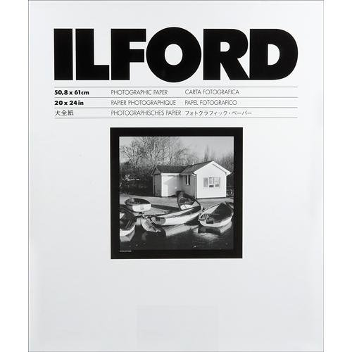 "Ilford Multigrade IV FB Fiber Based VC Variable Contrast Doubleweight Black & White Enlarging Paper - 20x24""-50 Sheets - Glossy Surface for printing from conventional negatives and from XP2 SUPER negatives"
