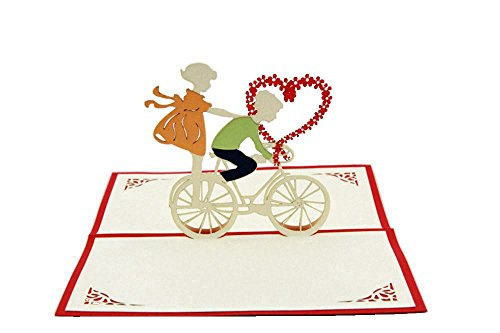 IShareCards Handmade 3D Pop Up Greeting Cards for Valentines,Lovers,Couple's/ Valentines Day Gifts Cards (Valentine Riding)