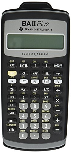 Texas Instruments BAIIPlus Financial Calculator CALCULATOR,BUS ANLY,10DIG UD1013 (Pack of 2) (Texas Instruments Ba Ii Plus Calculator Price)