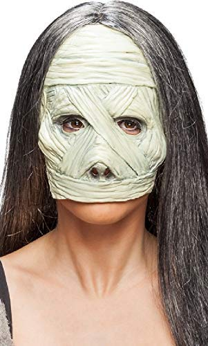 Mens Ladies Classic Halloween 3/4 Face Latex Egyptian Mummy Horror Fancy Dress Costume Masks -