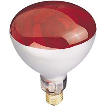 Ge Lighting 37771 R40 Heat Lamp Red 250 Watt Incandescent Bulbs Amazon Com