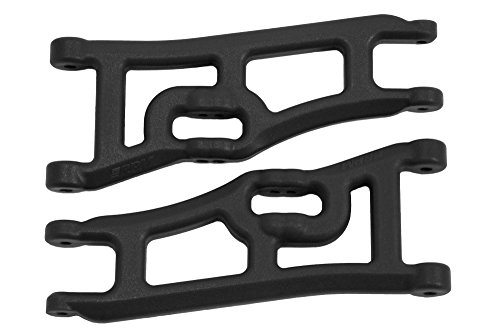 Wide Front A-arms, Black; Traxxas Rustler Stampede RPMC0662