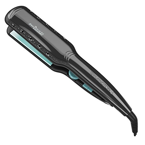 "Remington Pro 1¾"" Wet 2 Straight Flat Iron with Titanium Ceramic Technology, Black, S7330"