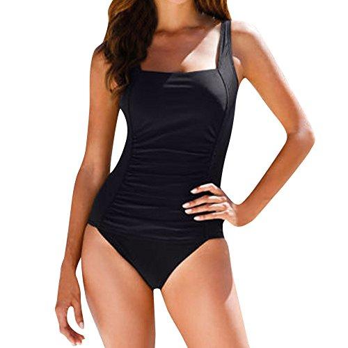 1 arricciato da Body Imbottito regolabile Bikini pezzo della piatta Effetto Spiaggia Triangolo Monokini Push Sport Amlaiworld Up Guide Beachwear bagno Costumi Donna Halter Nero pancia nqzEww0pZ
