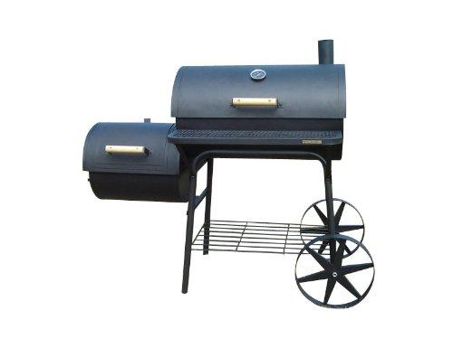 PROFI XXL 90kg-Smoker BBQ GRILLWAGEN Holzkohle Grill Grillkamin 3,5 mm Stahl PROFI-QUALITÄT