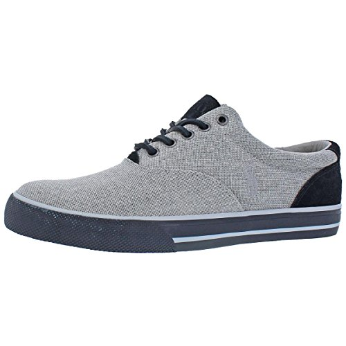 Polo Ralph Lauren Mens Vaughn Woven Fashion Sneakers Gray 14 Medium (D)
