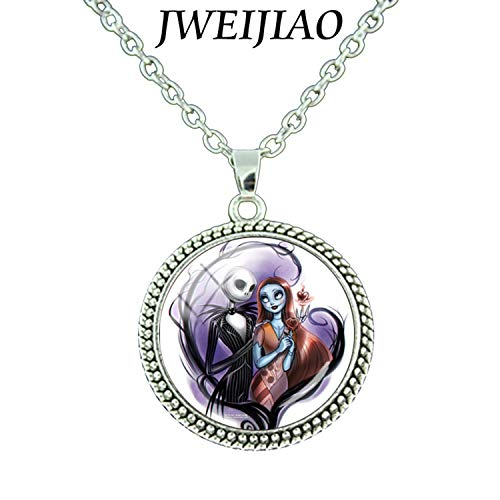 CHITOP Jack Skellington and Sally Love Necklace -Art