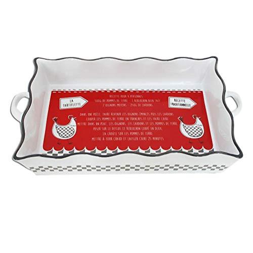 Tartiflette Ceramic Dish red
