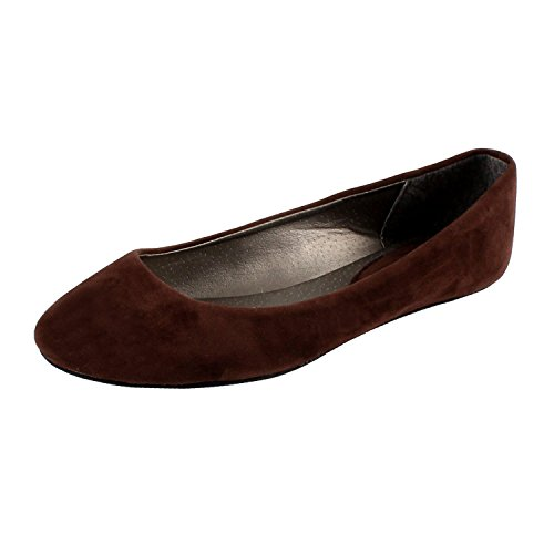West Blvd Women's Basic Round Toe Ballet Flats BRS 5.5