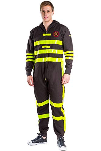 Tipsy Elves Men's Firefighter Costume - Fireman Halloween Costume: Large Red]()