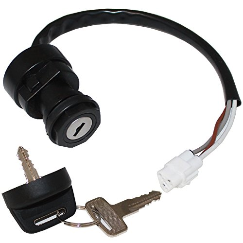 Caltric IGNITION KEY SWITCH FOR KAWASAKI PRAIRIE 650 KVF650 KVF-650 2002 / PRAIRIE 650 4X4 2003 by Caltric (Image #1)