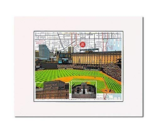 Baseball, Baltimore Camden Yards, home of the Orioles art print. Enhance your home or office. Gallery quality. Matted and ready-to-frame.