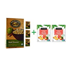 Nature's Path, Organic Hot Oatmeal, Apple Cinnamon, 8 Packets, 50 g Each( 4 PACK )+ ( 2 PACK ) Stoneridge Orchards, Sliced Peaches, Dried Tree-Ripened Summer Peaches, 4 oz (113 g)