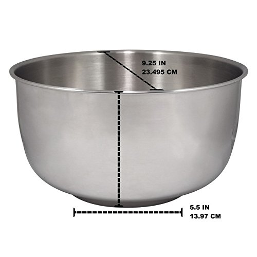 Replacement Stainless Steel Bowl Set Fits Sunbeam & Oster Mixers