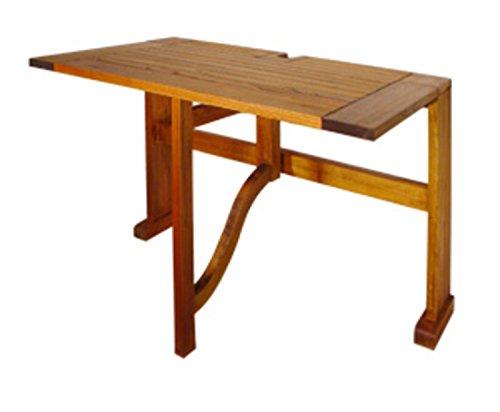 CC Home Nyatoh Hardwood Drop Leaf Half-Square Table