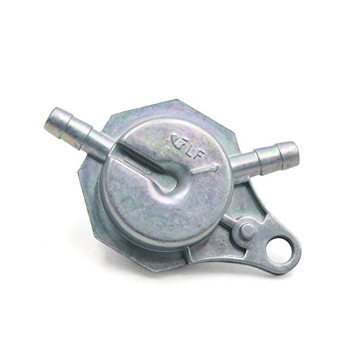 uxcell Universal Metal Motorcycle Oil Gas Fuel Tap Petcock Valve Switch Silver Tone ()