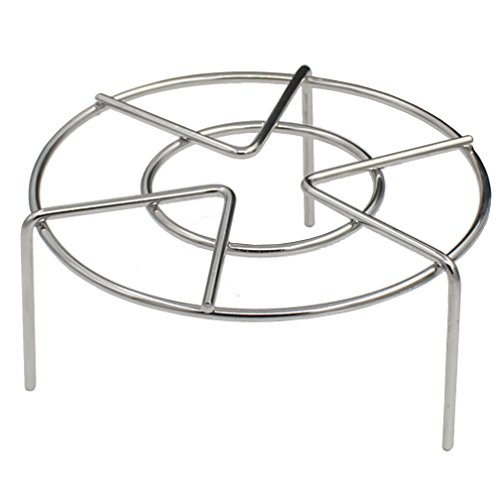 Zicome Steam Rack, Stainless Steel Steaming Rack, 6 Inch Diameter, 2-3/4 Inch High