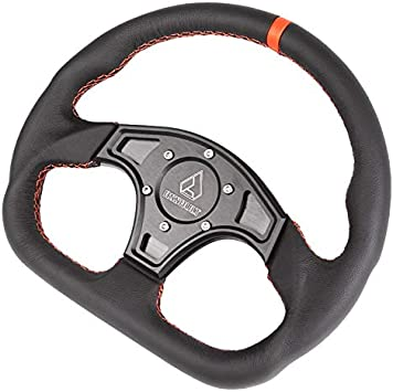 Assault Industries 100005SW1206K Black//White Stitch BallisticD Steering Wheel Kit