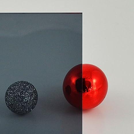 transparentes get/öntes PLEXIGLAS/® Ma/ße: 100 x 50 x 0,3 cm PLEXIGLAS/® grau 7C83 GT Lichtdurchl/ässigkeit 21/%