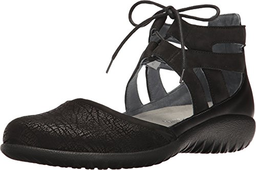 Naot Footwear Kata, Crackle Velvet Nubuck/Black Raven Leather, 42 (US Women's 11) M