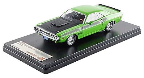Amazoncom Dodge Challenger Ta Greenblack 1970 Model Car