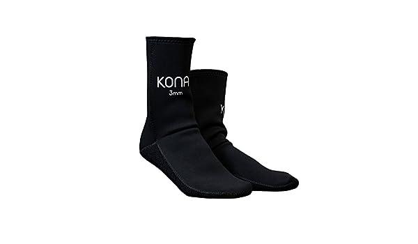 Kona Calcetines de neopreno (3 mm, resistente a la abrasión, para buceo, con tecnología Pentagrip): Amazon.es: Deportes y aire libre